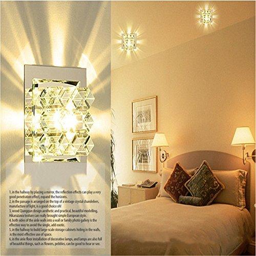 GZEDG Kristall verborgene Oberfläche montiert LED-Lampe Ganglichter Korridor Eingang Treppe Led Lampe Balkon Deckenstrahler ( Color : Transparent )