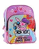 Rucksack US HAPPY BUNNY, das Kaninchen DJ den Plattenspieler–Tasche Urban amerikanischen für Student und Erwachsene–Modus Musik Original–38x 28x 12cm