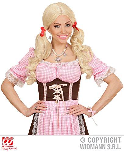 ANGEBOT 4 Teile KOMBI SET - OKTOBERFEST - ( Halskette, 2 Ohrringe + Ring ), Armbänder Modeschmuck Trendschmuck Bayern Bayrisch Edelweiß