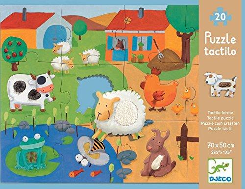 Djeco - Tactile Puzzle - Fattoria