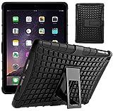 G-Shield Hülle für iPad Air (1.Gen) Stoßfest Schutzhülle mit Ständer - Schwarz