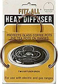 Fitz-All Heat Diffusers For Use On Ranges To Protect Glass Cookware Copper Card Of 2