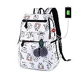 KHDJH Kinderrucksack Mode schule Rucksack für mädchen schule taschen Neue ankunft Kinder rucksäcke Kinder Nette USB Tasche schul Bookbag E D