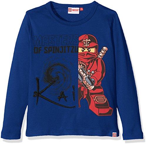LEGO Wear Jungen Lego Boy Ninjago Teo 711-Langarmshirt, Blau (Dark Blue 570), 140 Preisvergleich