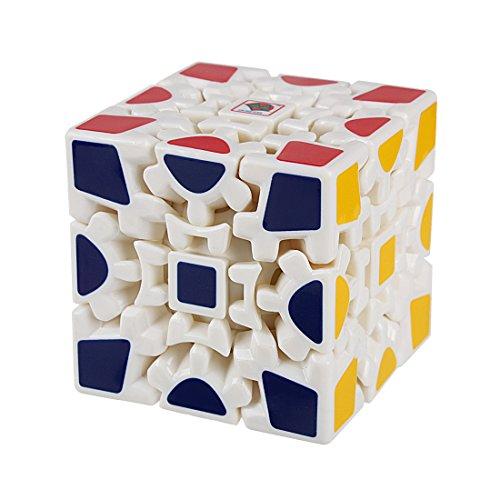 Preisvergleich Produktbild Andux Zone 3D Gear Cube I Generation Painted Stickerless Twisty Puzzle 3x3x3 YXMF-03 (Weiß)
