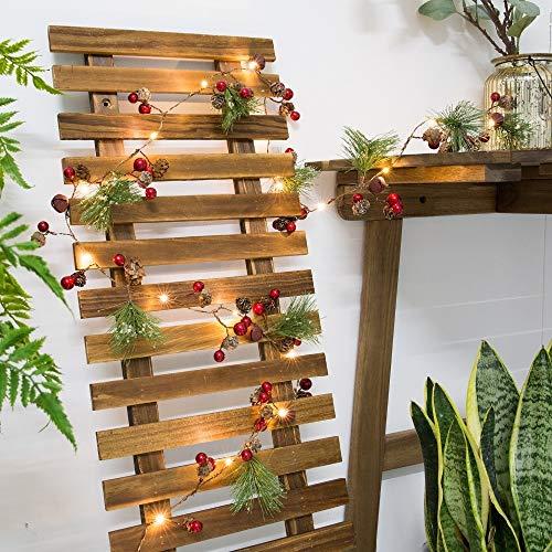 Rote Beere Weihnachtsgirlande Lichter LED Kupfer Lichterkette Tannenzapfen Lichterketten for Holiday Party Tree Party Home Decoration - Home Tannenzapfen