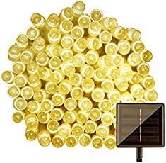 IFITech 39 Feet 100 LED Solar String Light (Yellow)