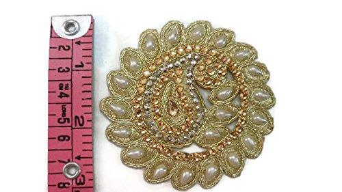 Generic Dekorative Perlen Applique, Royal Patch, Perle Applique, Saree Applique, Bluse,...