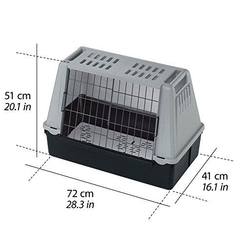 Ferplast 73079021W1 Autotransportbox ATLAS CAR MINI, für Hunde, Maße: 72 x 41 x 51 cm, grau - 2