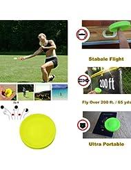 Theshy Zip Chip Mini Fresbee, UFO Creativo a Spinta Manuale, New Spin in Catching Game Flying Disc, Fitness e Giochi, Gel di Silice, Ginnastica, Dodgeball, Beach Giocattoli da Esterno per Bambini