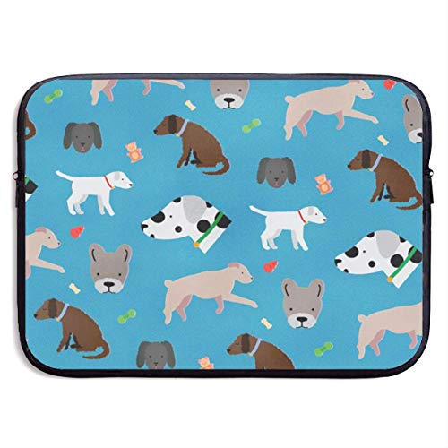 Love girl Verschiedene Hunde Laptop Tasche 15 Zoll Notebook PC Neopren Schutzhülle Tasche Träger Halter -