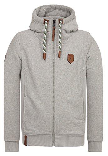Naketano Male Zipped Jacket Birol Jeck Gun Smoke Grey Melange