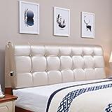 MMM- Continental Bedside Soft Case Bett Kissen große Rückenlehne Pad Kissen Bettdecke Hotel Doppel waschbar ( Farbe : Champagner , größe : 90*58cm(no Bedside) )