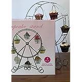 Cupcake soporte 8Cupcakes en una rueda de presentación con estilo partes, regalo de cumpleaños