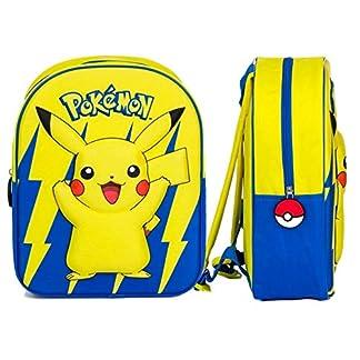 GUIZMAX Mochila Pokemon 3D Disney niño Pikachu