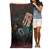 LUOL Soft Beach Towel Hard Rock Polyester Home Bathroom Hotel Bath Sheet Sets Durable Sports Absorbent Swimming Pool Spa Gym Towels Easy Care Machine Wash