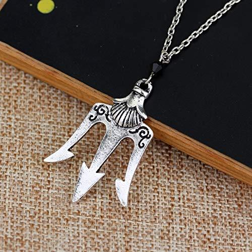 DADATU Halsketten für Herren Percy Jackson Neptun Etrident Poseidon Vintage Halskette Das Meer Von Percy Jackson Halskette Für Männer Und Frauen