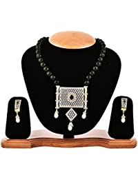 YouBella American Diamond Gold Plated Traditional Necklace Set For Women Party Wear Jewellery Set With Earrings...