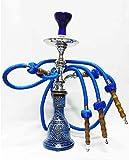 3 Sortie Tuyau ou tube 50 cm Hookah Shisha Narguile vase Fumeurs (Bleu)