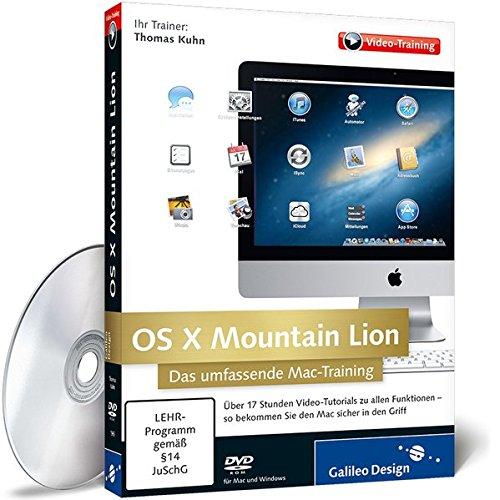 OS X Mountain Lion - Das umfassende Mac-Training Mountain Lion Os X Software