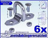 6x Lasche Ring 800daN 800kg Zurrpunkt Zurrlasche Zurröse Öse für Spanngurt Gr. 1