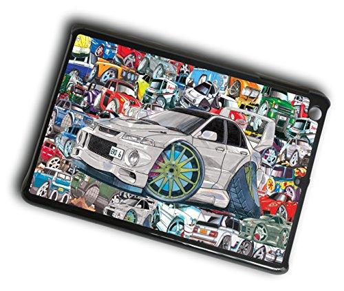 Preisvergleich Produktbild Koolart Schutzhülle für Sticker Bomb Stil-Schutzhülle für iPad Mini,  Motiv Mitsubishi Evolution 6 Evo 6 Retro Generation 1,  2 & 3