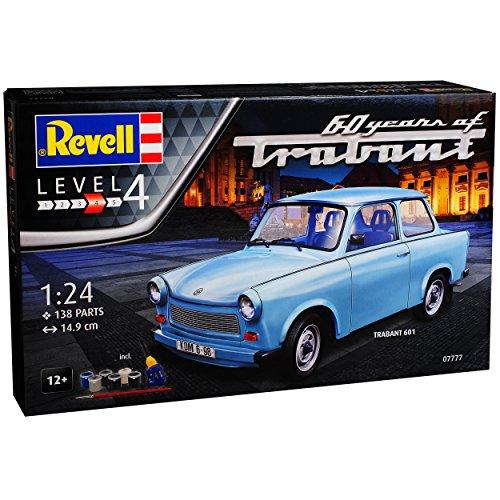 Trabant 601 Limousine Blau 1964-1990 mit Farben Leim Pinsel 07777 Bausatz Kit 1/24 Revell Modell...