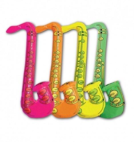 Aufblasbare Blow Up Toys Banana Gitarre Monkey Boom Box Halloween Stag Hawaiian Abendkleid-Partei (Inflatable Saxophon 75 cm) ()