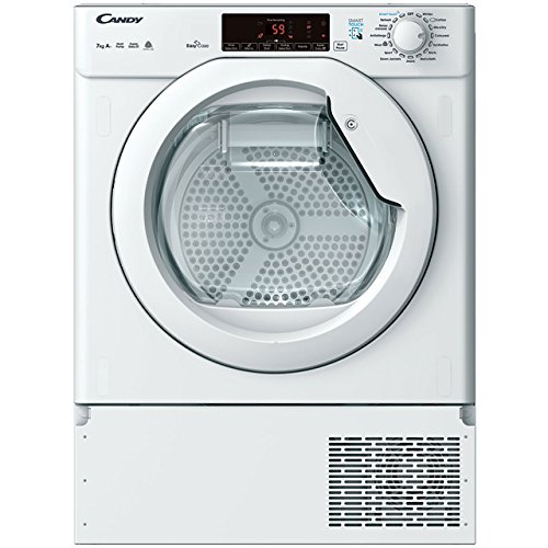 Candy CBTDH7A1TE-80 Integrated 7kg Heat Pump Condenser Tumble Dryer in White