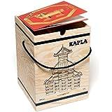 Jeu de construction Kapla Malette 280 planchettes naturel+ 1 livre d'art Bleu 9 ans +