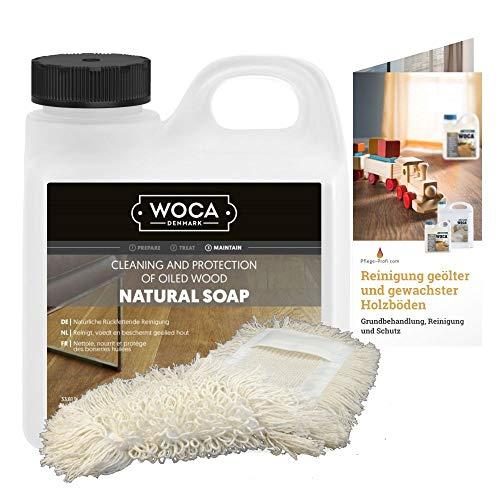 Woca Holzbodenseife natur 2,5 Liter inkl. Baumwollmop und Pflegeanleitung