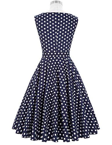 Damen Petticoat Kleider 50er Festliche Kleider Knielang XL BP002-33 -