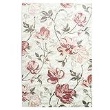 Teppich Modern Designer Wohnzimmer Inspiration Allure Floral Blüten Pastel Pink Creme Größe 120/170 cm