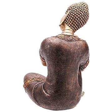 Decorativa figura de buda cabeza descansando sobre la rodilla 5