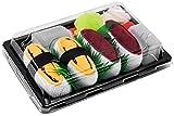 Photo de Rainbow Socks - Femmes Hommes - Sushi Chaussettes Thon Tamago - 2 Paires par Sushi Socks Box