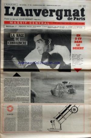 AUVERGNAT DE PARIS (L') [No 20] du 18/05/1985 - BOXE - LARAGE DE CONVAINCRE - JULIEN FERNANDEZ - DE DECAZEVILLE - JOSE JOVER ET DU GAU - EN 2CV DANS LE DESERT par Collectif
