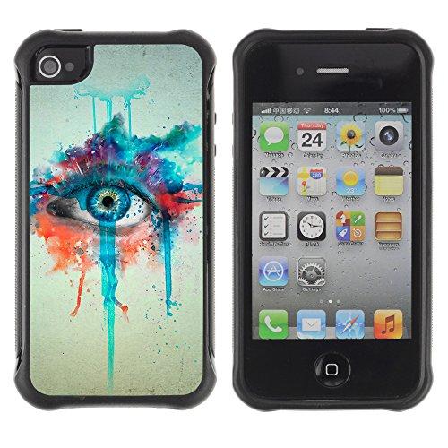 Graphic4You Artist Portrait Design Harte Hülle Case Tasche Schutzhülle für Apple iPhone 4 und 4S Design #4