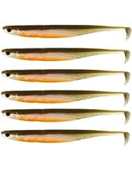 Westin KickTeez ST 9 cm - 6 Gummifische für Zander, Hecht, Barsch, Forelle, Zanderköder, Gummiköder, Hechtköder, Barschköder, Forellenköder, Angelköder, Kunstköder