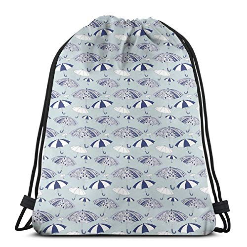 Jiger Drawstring Tote Bag Gym Bags Storage Backpack, Artistic Canopies with Floral Geometrical and Abstract Patterns,Very Strong Premium Quality Gym Bag for Adults & Children