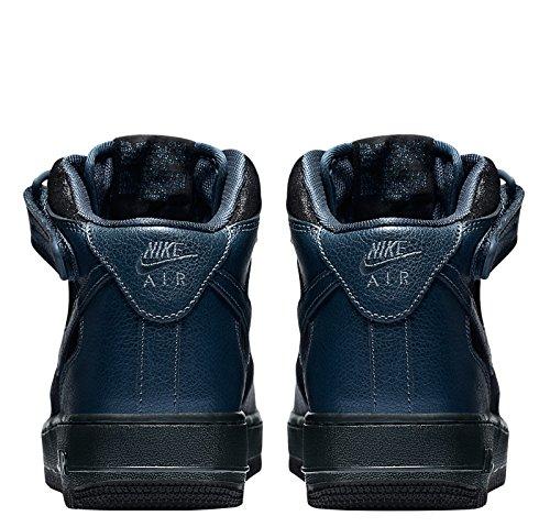 Nike W Air Force 1 '07 Mid Prm, Scarpe sportive Donna Blu (Blau (Blau-Schwarz))