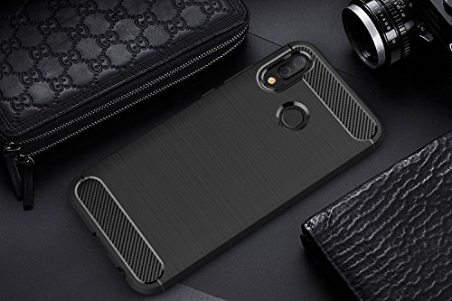 Cover Huawei P20 Lite , AROYI Huawei P20 Lite Custodia TPU Silicone Case Custodia Shock-Absorption Bumper e Anti-Scratch Back per Huawei P20 Lite – Nero