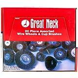 Great Neck Saw Wire Wheels Assortiment de 20 pi-ces Display WB20D - pack de 20
