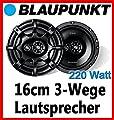 VW Lupo - Blaupunkt GTx663 - 16cm 3-Wege Lautsprecher System - Einbauset