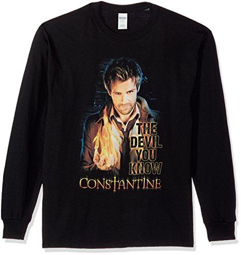 Trevco Men's Constantine Devil You Know Long Sleeve T-Shirt
