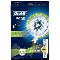 Oral-B Pro 750Noir oscillation Brosse à dents électrique brosse à dents Noir, Blanc–(Batterie, intégré, Cross...