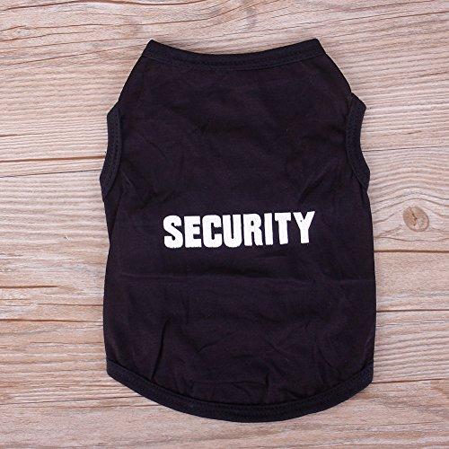 rungao Sicherheit Patten klein Katze Hund Puppy Weste T-shirt Haustier Kleidung Sommer Bekleidung Kostüme, schwarz, S