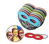 JYOHEY 24 Stück Superhelden Masken Cosplay Kinder Geburtstag Party Augenmasken Weihnachten Halloween Filz Masken Mit Elastischen Seil