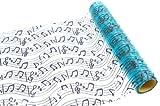 Discount Mariage - Rouleau organza thème musique Turquoise