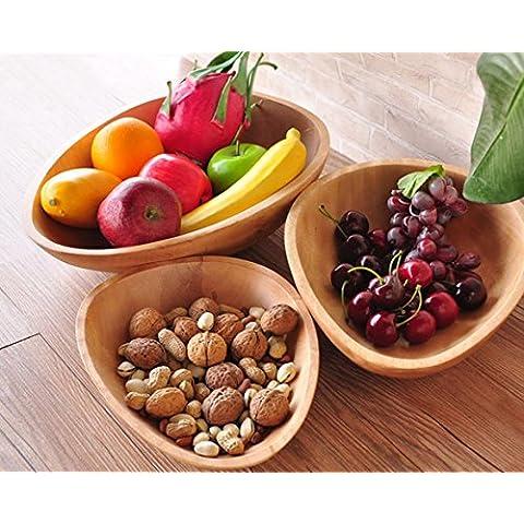 Caramella piatto color legno frutta secca frutta set di tre alberghi nel soggiorno