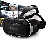 Shinecon 3D VR Glasses Adult movies, 3D VR Headset Virtual Reality Box with Adjustable Lens and Strap for iPhone 6 Plus/6s/6/5s/5c/5 Samsung Galaxy s5/s6/s7/note4/note5 and Other 3.5-6.0 inch Smartphone for 3D movies and Games